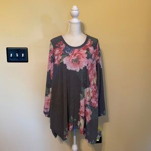 Philosophy pointed tunic